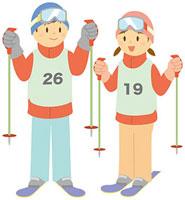 スキーをする中学生 11002055117  写真素材・ストックフォト・画像・イラスト素材 アマナイメージズ