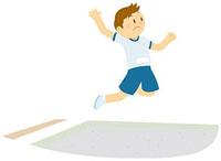 走り幅跳びをする男子中学生 11002055127  写真素材・ストックフォト・画像・イラスト素材 アマナイメージズ
