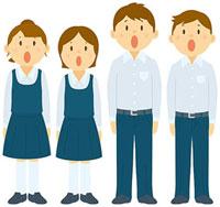 合唱コンクールで歌う中学生 11002055137| 写真素材・ストックフォト・画像・イラスト素材|アマナイメージズ