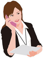 携帯電話で話す女性 11002055183  写真素材・ストックフォト・画像・イラスト素材 アマナイメージズ