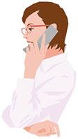 携帯電話で話す女性 11002055184  写真素材・ストックフォト・画像・イラスト素材 アマナイメージズ