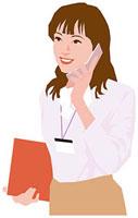 携帯電話で話す女性 11002055185  写真素材・ストックフォト・画像・イラスト素材 アマナイメージズ