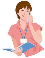 携帯電話で話す女性 11002055186  写真素材・ストックフォト・画像・イラスト素材 アマナイメージズ