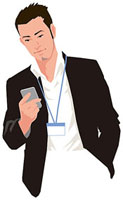 スマートフォンを操作する男性 11002055189  写真素材・ストックフォト・画像・イラスト素材 アマナイメージズ