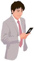 携帯電話を操作する男性 11002055190  写真素材・ストックフォト・画像・イラスト素材 アマナイメージズ