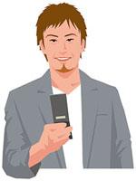 携帯電話を操作する男性 11002055191  写真素材・ストックフォト・画像・イラスト素材 アマナイメージズ