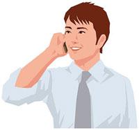 携帯電話で通話する男性 11002055192  写真素材・ストックフォト・画像・イラスト素材 アマナイメージズ