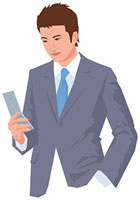 携帯電話を操作する男性 11002055193  写真素材・ストックフォト・画像・イラスト素材 アマナイメージズ