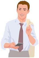 スマートフォンを片手に持つ男性 11002055194  写真素材・ストックフォト・画像・イラスト素材 アマナイメージズ