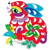Illustration of a rabbit with vibrant color 11010044525| 写真素材・ストックフォト・画像・イラスト素材|アマナイメージズ
