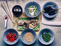 Ingredients in dishes for korean cuttlefish meal 11015208647| 写真素材・ストックフォト・画像・イラスト素材|アマナイメージズ