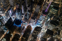 Aerial view from helicopter of Midtown, Times Square, New York, USA 11015295366| 写真素材・ストックフォト・画像・イラスト素材|アマナイメージズ