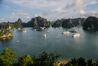 View of Ha Long Bay from Sim Soi Island, Vietnam