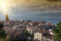 Panoramic view of Saint-Tropez, Provence-Alpes-Cote d'Azur, France, Europe 11015341180| 写真素材・ストックフォト・画像・イラスト素材|アマナイメージズ
