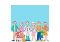 医者と看護師と家族 クラフト 11017000516  写真素材・ストックフォト・画像・イラスト素材 アマナイメージズ