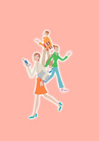 ポーズをとる3人のビジネスウーマン クラフト 11017000522| 写真素材・ストックフォト・画像・イラスト素材|アマナイメージズ