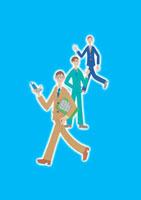 ポーズをとる3人のビジネスマン クラフト 11017000523| 写真素材・ストックフォト・画像・イラスト素材|アマナイメージズ