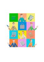 ビジネスをする人々 クラフト 11017000535| 写真素材・ストックフォト・画像・イラスト素材|アマナイメージズ