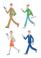 ビジネスマンとビジネスウーマン クラフト 11017000549| 写真素材・ストックフォト・画像・イラスト素材|アマナイメージズ