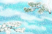 雪と松 イラスト 11019014856| 写真素材・ストックフォト・画像・イラスト素材|アマナイメージズ