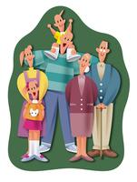 笑顔の三世代家族 11023012260  写真素材・ストックフォト・画像・イラスト素材 アマナイメージズ