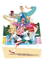 運動会 11023012311  写真素材・ストックフォト・画像・イラスト素材 アマナイメージズ
