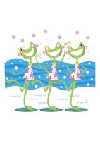 歌う3匹のカエル 11023012400| 写真素材・ストックフォト・画像・イラスト素材|アマナイメージズ