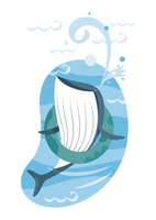 クジラ 11023012401| 写真素材・ストックフォト・画像・イラスト素材|アマナイメージズ