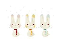 3匹のウサギ 11023012407| 写真素材・ストックフォト・画像・イラスト素材|アマナイメージズ
