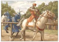 馬上槍試合でハイタカの騎士を破るジェレイント(ジェレイントとエニド3) 11023022540| 写真素材・ストックフォト・画像・イラスト素材|アマナイメージズ