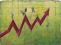 Business People on Graph 11030003346  写真素材・ストックフォト・画像・イラスト素材 アマナイメージズ