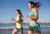 Women Jogging, Long Beach, Los Angeles County, California, U