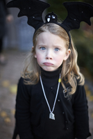 Girl in Bat Halloween Costume, Toronto, Ontario, Canada