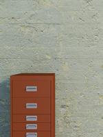 Digital Illustration of Filing Cabinet in front of Concrete Wall 11030043855| 写真素材・ストックフォト・画像・イラスト素材|アマナイメージズ
