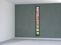 Digital Illustration of Empty Room with Tall, Narrow Window with view into Garden 11030043859| 写真素材・ストックフォト・画像・イラスト素材|アマナイメージズ