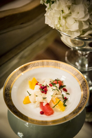 Close-up of Salad with Oranges, Grapefruit, Fennel and Pomegranate Seeds at Wedding Reception 11030048245| 写真素材・ストックフォト・画像・イラスト素材|アマナイメージズ