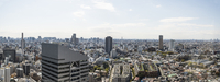 Southern view of Tokyo from Cerulean Tower in Shibuya with Infoss Tower in forground, Tokyo, Japan 11030048680| 写真素材・ストックフォト・画像・イラスト素材|アマナイメージズ