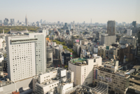 High angle view of Tokyo with soccer field on top of building, viewed from Cerulean Tower Hotel in Shibuya, Tokyo, Japan 11030048686| 写真素材・ストックフォト・画像・イラスト素材|アマナイメージズ