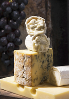 Various cheeses with grapes 11047043009| 写真素材・ストックフォト・画像・イラスト素材|アマナイメージズ