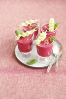 Cold beetroot soup with cucumber