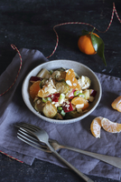Roasted Brussels sprouts salad with mandarins (gluten free) 11047060711| 写真素材・ストックフォト・画像・イラスト素材|アマナイメージズ