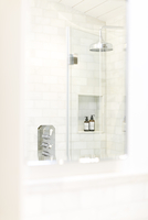 White home showcase bathroom