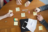 Sweden, People writing on adhesive notes during business meeting 11090021361| 写真素材・ストックフォト・画像・イラスト素材|アマナイメージズ