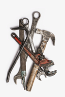 Used Tools. Spanners, adjustable wrench and hammer. 11093002341| 写真素材・ストックフォト・画像・イラスト素材|アマナイメージズ