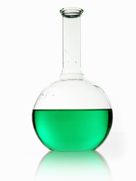 A rounded glass scientific chemical flask 11093002521| 写真素材・ストックフォト・画像・イラスト素材|アマナイメージズ
