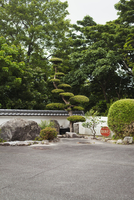 Garden of a Japanese Buddhist temple with rocks and trees. 11093023733| 写真素材・ストックフォト・画像・イラスト素材|アマナイメージズ