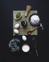 Directly above shot of ingredients on table 11100037743| 写真素材・ストックフォト・画像・イラスト素材|アマナイメージズ