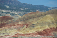 High angle majestic view of hills at John Day Fossil Beds National Park 11100086829| 写真素材・ストックフォト・画像・イラスト素材|アマナイメージズ