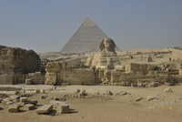 Sphinx or Great Sphinx of Giza, lion with a human head 11102001150| 写真素材・ストックフォト・画像・イラスト素材|アマナイメージズ