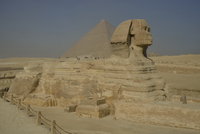 Sphinx or Great Sphinx of Giza, lion with a human head 11102001152| 写真素材・ストックフォト・画像・イラスト素材|アマナイメージズ